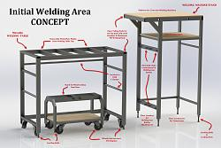 'Over the Jeep' Workshop Lift-Table-compact-welding-area.jpg