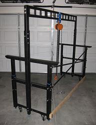 'Over the Jeep' Workshop Lift-Table-finished-gantry-frame.jpg