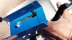 "12""X37"" Metal Lathe Digital Tachometer-using-nibbler-cut-display-opening.jpg"
