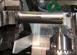 35 buck Chinese Machinist's Level overhaul and cralibation (!)-centre-drilled.jpg