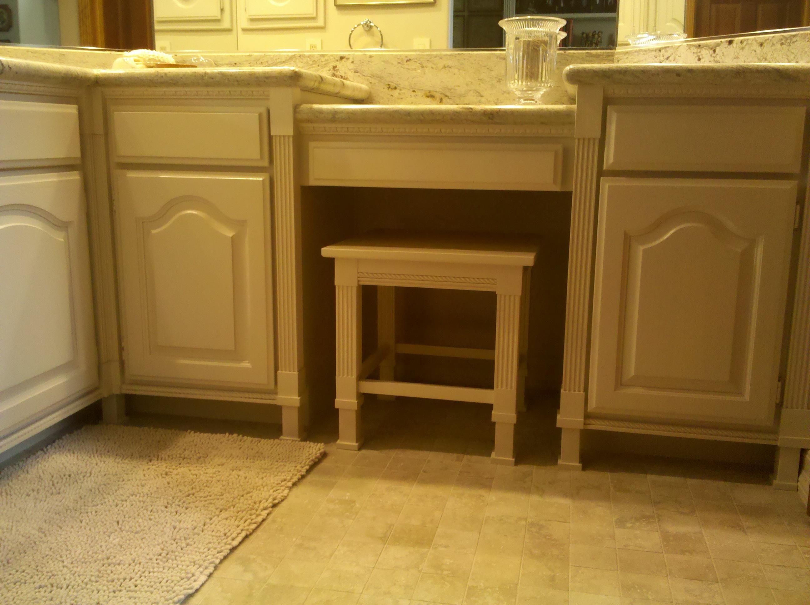 ... Bench Seat For Bathroom Vanity Cabinet Secondary Bathroom Custom Vanity  Bench ...