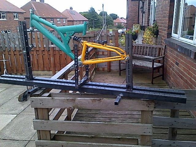 Homemade Bike Frame Jig - HomemadeTools.net