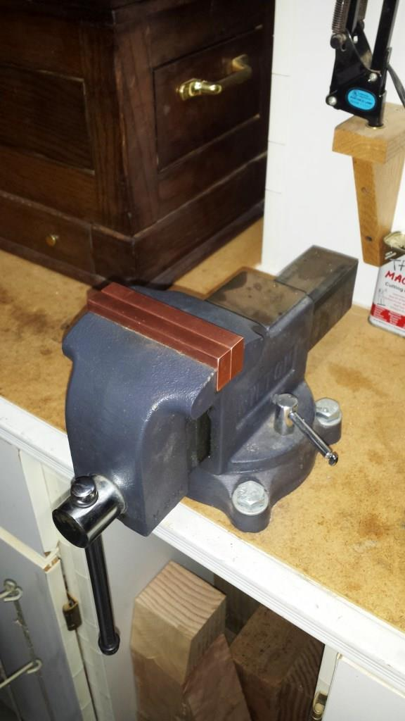 ... Copper Soft Jaws For Bench Vise Copper Jaws 4 Inch Vise ...