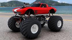 Corvette pickup truck conversion - photos-monster-truck-trucks-4x4-wheel-wheels-corvette-corvettes-hot-rod-rods-free-desktop.jpg