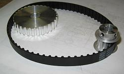 "DIYed XL 037 Belt pulleys for the 7 x 14"" mini lathe.-3-to1-belt-kit.jpg"