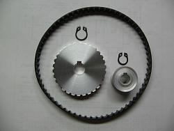 """DIYed XL 037 Belt pulleys for the 7 x 14"""" mini lathe.-3to1-conversion-set.jpg"""