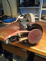 Amazing Easy Bench Grinder To Belt Sander No Welds Or Lathe Ocoug Best Dining Table And Chair Ideas Images Ocougorg