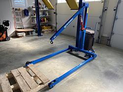 Easy Storage Cart for Bluebird Engine Hoist - Crane-assembled-hoist.jpg