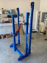 Easy Storage Cart for Bluebird Engine Hoist - Crane-bluebird-cart-1.jpg