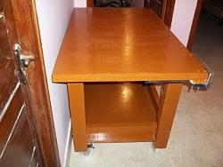 EVERY WOODWORKERS PRIDE - HIS OWN HOME MADE WORK BENCH WITH VISE-2.jpg