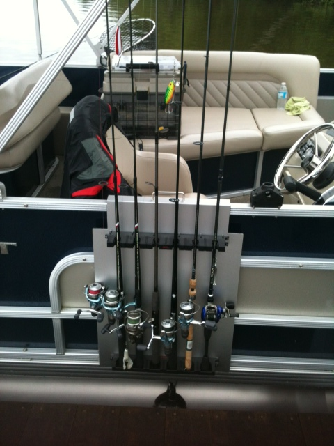 Diy fishing rod holder for boat diy do it your self for Homemade fishing rod storage ideas