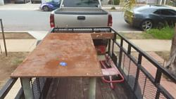 """got this welding table for free.....first project buit on it: """"clamp storage rack""""-13006605_10206144302230984_5771715684378593265_n.jpg"""