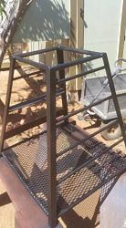 """got this welding table for free.....first project buit on it: """"clamp storage rack""""-20150424_150250.jpg"""