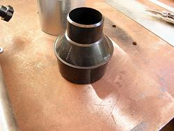"""GRIZZLY BAND SAW    MODIFICATION  Vacum Dust Reducer 4"""" to 2 1/4""""-025.jpg"""
