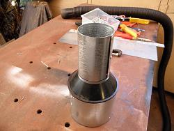 """GRIZZLY BAND SAW    MODIFICATION  Vacum Dust Reducer 4"""" to 2 1/4""""-026.jpg"""