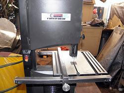 Harbor Freight band saw 9 inch Mod Rip Fence and support frame