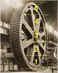 High-quality black-and-white photographs of large old machines and tools-5-men-tall.jpg
