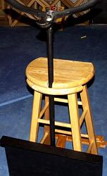 Homemade Double bass hauler made from a stool and a music stand-shandlelatched.jpg