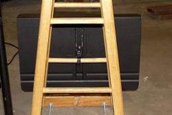 Homemade Double bass hauler made from a stool and a music stand-sstandlatch_4.jpg