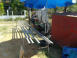 How to Build a Steel Structure House Part2 Expanding old roof-20150614_110636.jpg