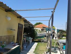 How to Build a Steel Structure House Part2 Expanding old roof-20150614_112904.jpg