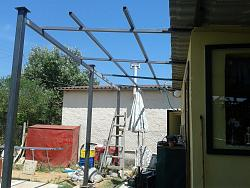 How to Build a Steel Structure House Part2 Expanding old roof-20150614_151737.jpg