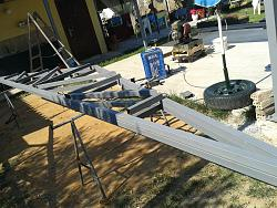 How to Build a Steel Structure House Part4 Roof Truss Assembly-20150705_100915.jpg
