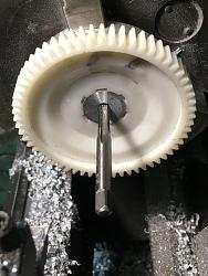 """Indexer for the 7 x 14"""" mini lathe-m-5-tapping-index-wheel.jpg"""