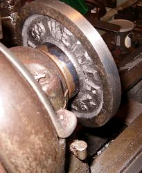 Lathe Chuck Backplate from a Barbell Weight-back-2-s.jpg