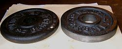 Lathe Chuck Backplate from a Barbell Weight-weights-1-s.jpg