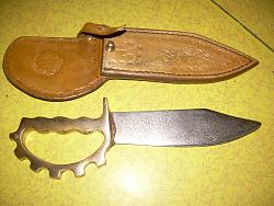 Leather skiving knife with sheath and knuckle knife with new sheath.-knives-sheaths-005.jpg