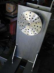 Made a wood lathe-22.-machined-10mm-thick-drilled-stainless-face-plate-img_0661.jpg