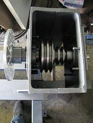 Made a wood lathe-23.-fitted-shaft-2-ratio-pulleys-bearings-supports-face-plate-fitted-img_0663.jpg