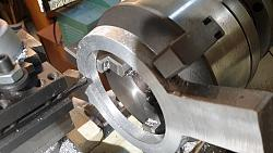 Melting and Making Circular Aluminium Clamps-turirning.jpg