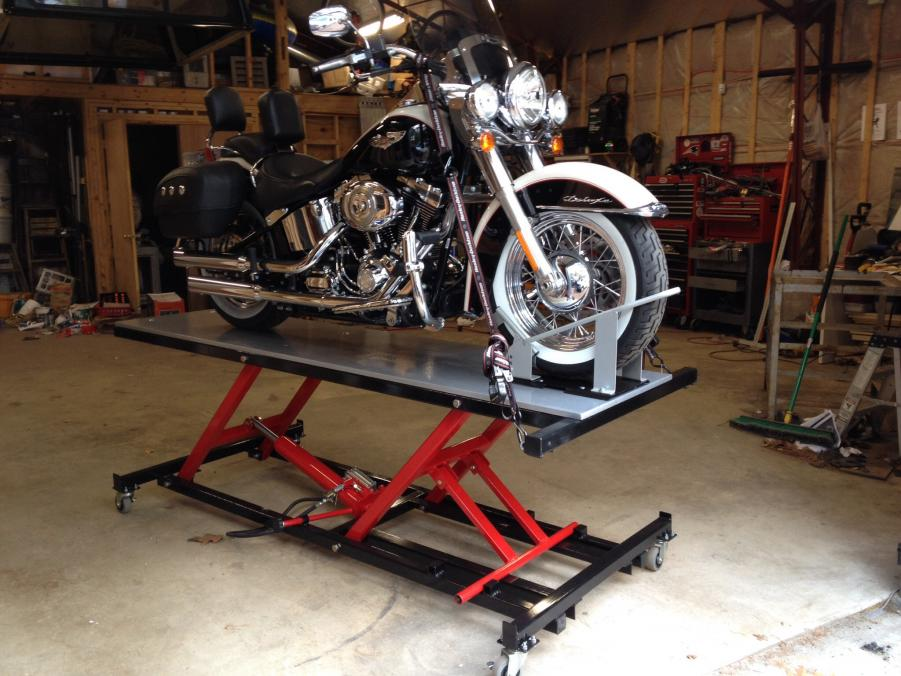 Homemade Motorcycle Lift Motorcycle Lift Table-image