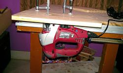 MY HOME MADE MFT TABLE --jig-saw-mounted.jpg