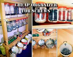 Organizer for screws from jars and metal cans.-mainpicture.jpg