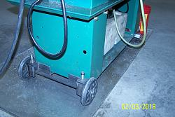 Outboard Support; Horizontal Bandsaw-wheels-levelers.jpg