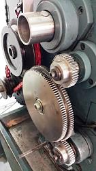 "Replacement Change Gears for 12"" Geared-head Lathe-two-40t-change-gears-installed.jpg"