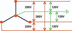 Rotary Phase Converter (Create 3-phase power from a single phase source)-208v-yschematic.jpg