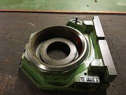 Rotary table re-ferb ready for stepper motor-old-painted-casting-striped-down-cleaning.jpg