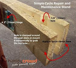 Rough and Ready Bicycle Stand for Repairs and Maintenance.-stand-details.jpg