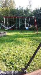 Swing from the old tramboline frame-fb_img_1532708621837.jpg