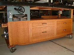 Table Saw and Router Work Center with T-Square Fence-3frontdrawerview.jpg