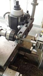 Unimat SL Tailstock Lever Action Clamping Screws-applying-21-pitch-knurl-0.364-dia-rod.jpg