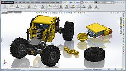 Vice Metal Casting from 3D Printed Patterns-solidworks-micro-crawler-3dprinted-design.jpg