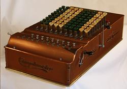 Vintage mechanical calculator - photo-comptometer_model_st_super_totalizer.png