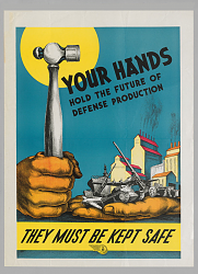 """WWII """"Don't Scrap It"""" poster - image-defense_through_safety_wwii.png"""
