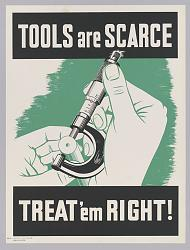"""WWII """"Don't Scrap It"""" poster - image-tools_are_scarce_wwii_poster.jpg"""