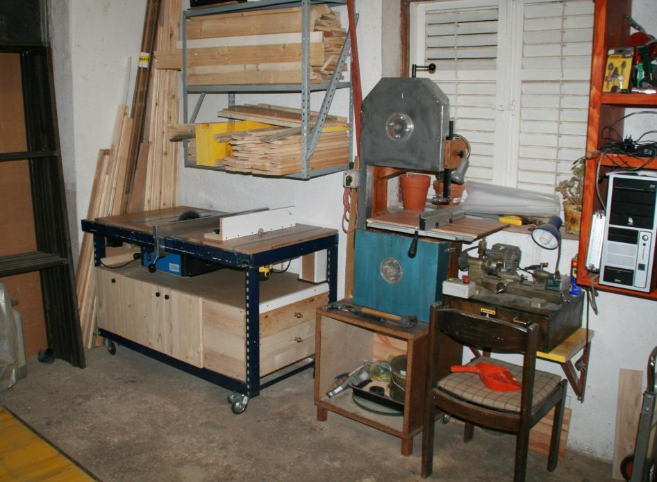 Tablesaw with router, bandsaw
